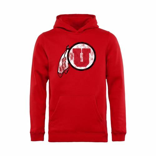 FANATICS BRANDED ユタ 子供用 クラシック 赤 レッド キッズ ベビー マタニティ トップス ジュニア 【 Utah Utes Youth Classic Primary Pullover Hoodie - Red 】 Red