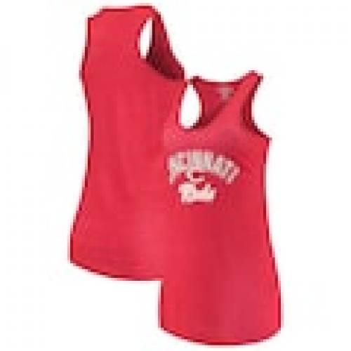 ファッションブランド カジュアル ファッション ソフトアズアグレープ SOFT AS A 送料無料 激安 !超美品再入荷品質至上! お買い得 キ゛フト GRAPE シンシナティ レッズ レディース RED レッド トップス WOMEN'S MULTICOUNT カット Tシャツ タンクトップ 赤 RACERBACK レディースファッション