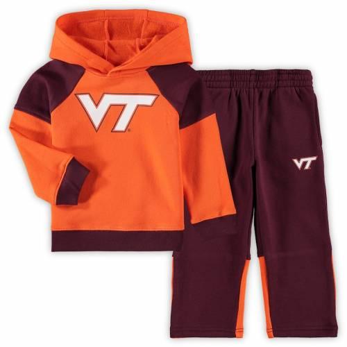 OUTERSTUFF バージニア テック ベビー 赤ちゃん用 サイドライン ラグラン 橙 オレンジ キッズ マタニティ ジュニア 【 Virginia Tech Hokies Toddler Sideline Raglan Pullover Hoodie And Pants Set - Orange 】 Orange