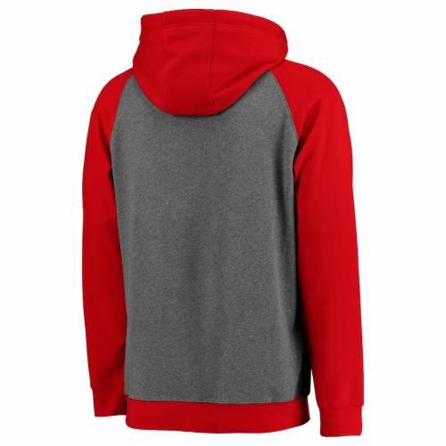 <title>ファッションブランド カジュアル ファッション ジャケット パーカー ベスト ファナティクス マート FANATICS BRANDED クリーブランド インディアンス フーディー 灰色 グレー グレイ 赤 レッド GRAY RED STRAIGHT OUT TWOTONE メンズファッション トップス</title>
