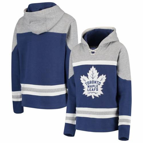 OUTERSTUFF トロント 子供用 青 ブルー キッズ ベビー マタニティ ジュニア 【 Toronto Maple Leafs Youth Asset Lace-up Pullover Hoodie - Blue 】 Blue