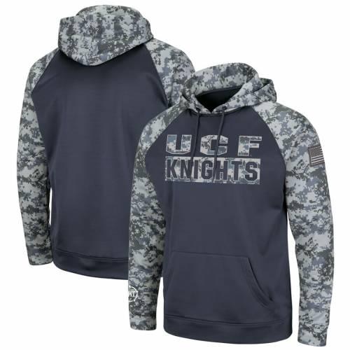 COLOSSEUM 子供用 ラグラン チャコール キッズ ベビー マタニティ トップス ジュニア 【 Ucf Knights Youth Oht Military Appreciation Digi Camo Raglan Pullover Hoodie - Charcoal 】 Charcoal