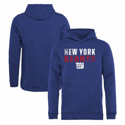 NFL PRO LINE BY FANATICS BRANDED ジャイアンツ 子供用 コレクション キッズ ベビー マタニティ トップス ジュニア 【 New York Giants Youth Iconic Collection Fade Out Pullover Hoodie - Royal 】 Royal
