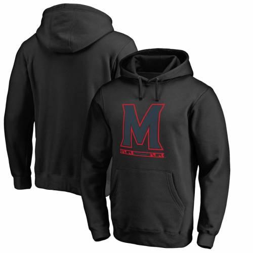 ファッションブランド カジュアル ファッション ジャケット パーカー ベスト FANATICS BRANDED メリーランド 黒 ※ラッピング ※ メンズファッション 通常便なら送料無料 BLACK HOODIE PULLOVER ブラック TERRAPINS MARYLAND TAYLOR トップス