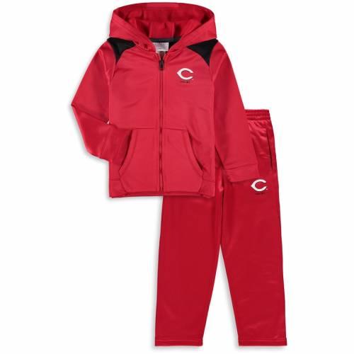 マジェスティック MAJESTIC シンシナティ レッズ ベビー 赤ちゃん用 アクション 赤 レッド キッズ マタニティ ジュニア 【 Cincinnati Reds Toddler Play Action Full-zip Hoodie And Pants Set - Red 】 Red