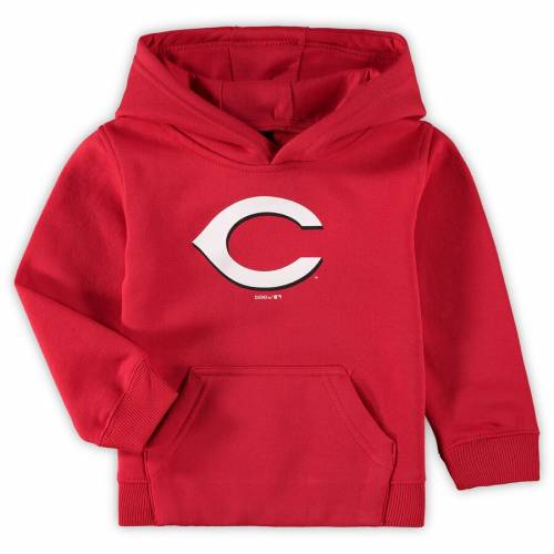 OUTERSTUFF シンシナティ レッズ ベビー 赤ちゃん用 ロゴ フリース 赤 レッド キッズ マタニティ トップス ジュニア 【 Cincinnati Reds Toddler Primary Logo Fleece Pullover Hoodie - Red 】 Red
