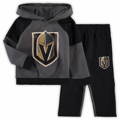 OUTERSTUFF ベビー 赤ちゃん用 フリース キッズ マタニティ ジュニア 【 Vegas Golden Knights Toddler Fleece Hoodie And Pants Set - Gray/black 】 Gray/black