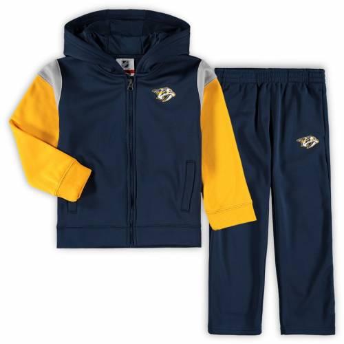 OUTERSTUFF 男の子 女の子 子供用 紺 ネイビー キッズ ベビー マタニティ ジュニア 【 Nashville Predators Preschool Blocker Full-zip Hoodie And Pants Set - Navy 】 Navy