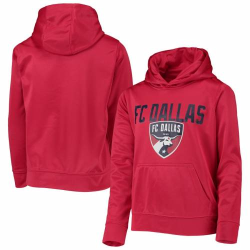 OUTERSTUFF ダラス 子供用 赤 レッド キッズ ベビー マタニティ ジュニア 【 Fc Dallas Youth Pacesetter Pullover Hoodie - Red 】 Red