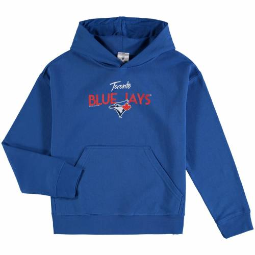 SOFT AS A GRAPE トロント 青 ブルー 子供用 アラウンド キッズ ベビー マタニティ トップス ジュニア 【 Toronto Blue Jays Youth Around The Horn Hoodie - Royal 】 Royal