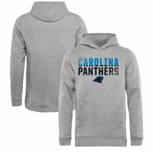 NFL PRO LINE BY FANATICS BRANDED プロ カロライナ パンサーズ 子供用 コレクションNFL PRO LINE BY FANATICS BRANDED CAROLINA PANTHERS YOUTH ICONIC COLLECTION FADE OUT PULLOVER HOODIE ASHキッズ ベビー マタニティVzMSpqUG