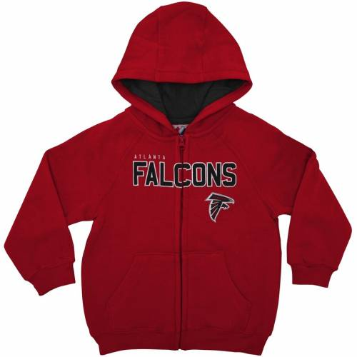 OUTERSTUFF アトランタ ファルコンズ 男の子 女の子 子供用 ギア 赤 レッド キッズ ベビー マタニティ トップス ジュニア 【 Atlanta Falcons Preschool Fan Gear Stated Full-zip Hoodie - Red 】 Red