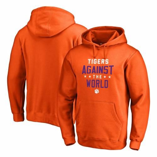 <title>即納最大半額 ファッションブランド カジュアル ファッション ジャケット パーカー ベスト ファナティクス FANATICS BRANDED クレムソン タイガース フーディー 橙 オレンジ ORANGE AGAINST THE WORLD メンズファッション トップス</title>