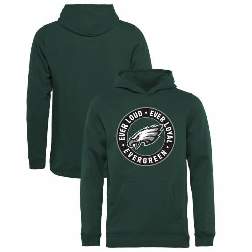 NFL PRO LINE BY FANATICS BRANDED フィラデルフィア イーグルス 子供用 コレクション 緑 グリーン キッズ ベビー マタニティ トップス ジュニア 【 Philadelphia Eagles Youth Hometown Collection Evergreen Pullov
