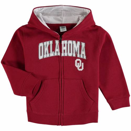 STADIUM ATHLETIC ベビー 赤ちゃん用 ロゴ キッズ マタニティ トップス ジュニア 【 Oklahoma Sooners Toddler Applique Arch And Logo Full-zip Hoodie 】 Cardinal