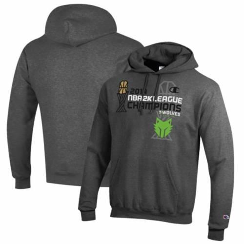 <title>ファッションブランド カジュアル ファッション ジャケット パーカー ベスト チャンピオン CHAMPION 灰色 グレー グレイ フーディー GRAY 業界No.1 TWOLVES GAMING 2019 NBA 2K LEAGUE CHAMPIONS POWERBLEND WOLVES メンズファッション トップス</title>