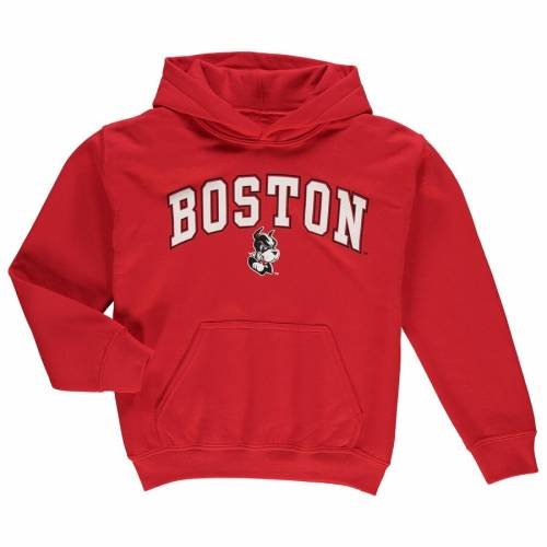 FANATICS BRANDED ボストン 子供用 キャンパス 赤 レッド キッズ ベビー マタニティ トップス ジュニア 【 Boston University Youth Campus Pullover Hoodie - Red 】 Red