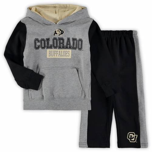 COLOSSEUM コロラド ベビー 赤ちゃん用 フリース パンツ キッズ マタニティ ジュニア 【 Colorado Buffaloes Toddler Back To School Fleece Hoodie And Pant Set - Heathered Gray/black 】 Heathered Gray/black