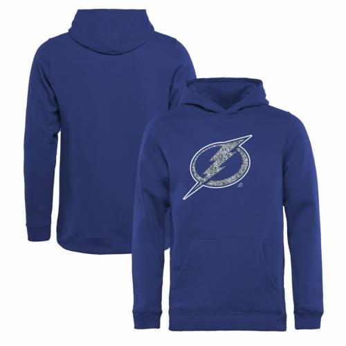 FANATICS BRANDED 子供用 ロゴ 青 ブルー キッズ ベビー マタニティ トップス ジュニア 【 Tampa Bay Lightning Youth Static Logo Pullover Hoodie - Blue 】 Blue