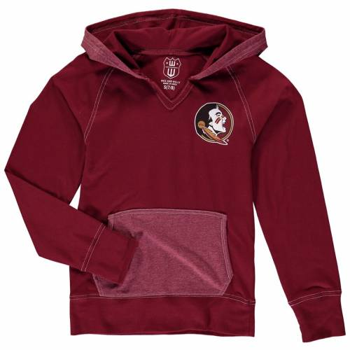WES & WILLY フロリダ スケートボード 子供用 キッズ ベビー マタニティ トップス ジュニア 【 Florida State Seminoles Wes And Willy Girls Youth Heathered Block Pullover Hoodie - Garnet 】 Garnet