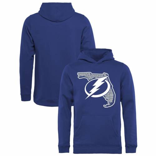 FANATICS BRANDED 子供用 スケートボード コレクション 青 ブルー キッズ ベビー マタニティ トップス ジュニア 【 Tampa Bay Lightning Youth State Hometown Collection Pullover Hoodie - Blue 】 Blue