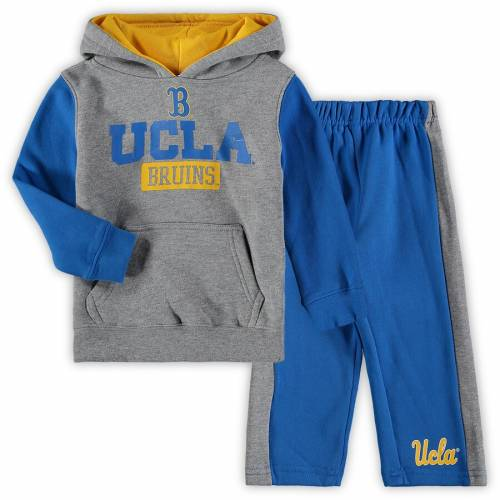 COLOSSEUM ベビー 赤ちゃん用 フリース パンツ キッズ マタニティ ジュニア 【 Ucla Bruins Toddler Back To School Fleece Hoodie And Pant Set - Heathered Gray/blue 】 Heathered Gray/blue