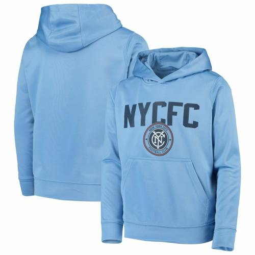 OUTERSTUFF シティ 子供用 スカイ 青 ブルー キッズ ベビー マタニティ ジュニア 【 New York City Fc Youth Pacesetter Pullover Hoodie - Sky Blue 】 Sky Blue