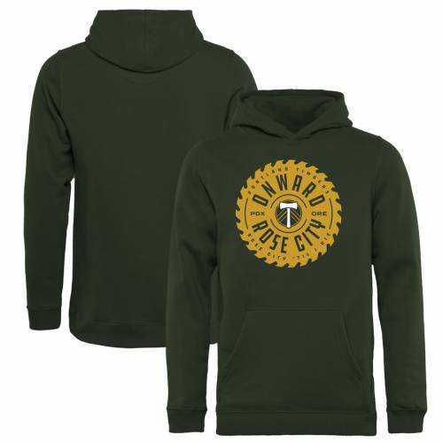 FANATICS BRANDED ポートランド 子供用 緑 グリーン キッズ ベビー マタニティ トップス ジュニア 【 Portland Timbers Youth Buzzsaw Pullover Hoodie - Green 】 Green