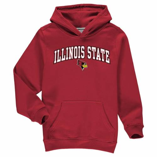 FANATICS BRANDED イリノイ スケートボード 子供用 キャンパス 赤 レッド キッズ ベビー マタニティ トップス ジュニア 【 Illinois State Redbirds Youth Campus Pullover Hoodie - Red 】 Red