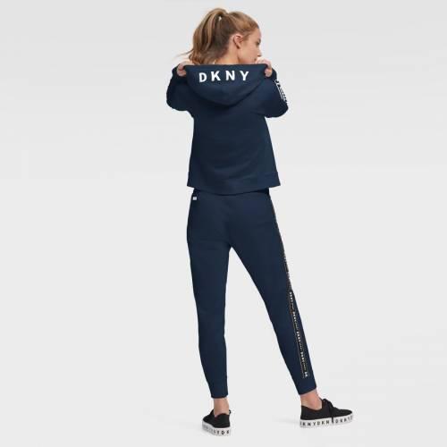 スポーツブランド カジュアル ファッション ジャケット パーカー ベスト ダナキャランニューヨーク スポーツ DKNY SPORT ラムズ レディース NAV ロサンゼルス フーディー フルジップ FULLジップフーディー WOMEN'S ネイビー クロップ CROP 爆買い新作 紺色 保障 ZOEY