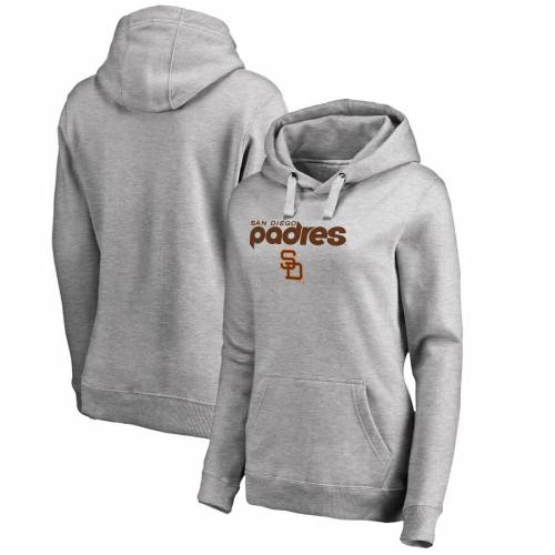 FANATICS BRANDED パドレス レディース クーパーズタウン コレクション 灰色 グレー グレイ WOMEN'SGRAY FANATICS BRANDED SAN DIEGO PADRES PLUS SIZE COOPERSTOWN COLLECTION WAHCONAH PULLOVER HOODIE HEATHEREDレデsQthxdCr
