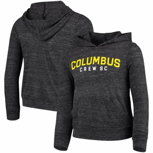 5TH & OCEAN BY NEW ERA 子供用 黒 ブラック キッズ ベビー マタニティ トップス ジュニア 【 Columbus Crew Sc 5th And Ocean By New Era Girls Youth Tri-blend Pullover Hoodie - Black 】 Black