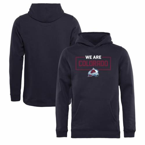FANATICS BRANDED コロラド 子供用 コレクション 紺 ネイビー キッズ ベビー マタニティ トップス ジュニア 【 Colorado Avalanche Youth Iconic Collection We Are Pullover Hoodie - Navy 】 Navy
