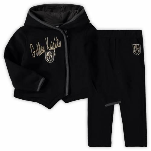 OUTERSTUFF 男の子 女の子 子供用 フリース 黒 ブラック キッズ 小学生 ベビー マタニティ ジュニア 【 Vegas Golden Knights Girls Preschool All-game Fleece Full-zip Hoodie And Pants Set - Black 】 Black
