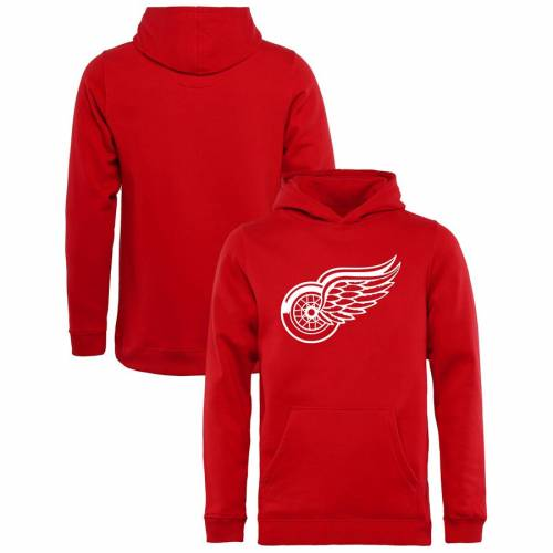 FANATICS BRANDED デトロイト 赤 レッド 子供用 ロゴ キッズ ベビー マタニティ トップス ジュニア 【 Detroit Red Wings Rinkside Youth Primary Logo Pullover Hoodie - Red 】 Red