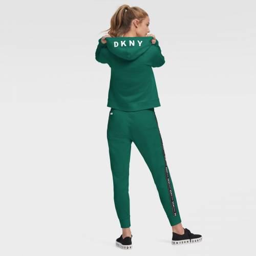 スポーツブランド カジュアル ファッション ジャケット パーカー ベスト ダナキャランニューヨーク スポーツ DKNY SPORT 店舗 ジェッツ レディース グリーン WOMEN'S FULLジップフーディー 秀逸 GREEN ニューヨーク フルジップ 緑 フーディー クロップ ZO CROP