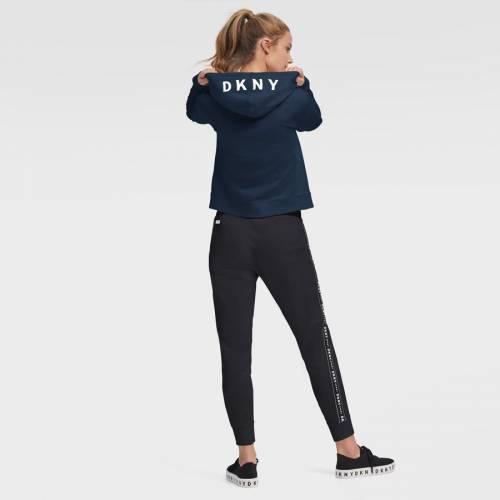 スポーツブランド カジュアル ファッション 当店一番人気 ジャケット パーカー ベスト ダナキャランニューヨーク スポーツ DKNY SPORT チャージャーズ FULLジップフーディー 紺色 フーディー レディース ロサンゼルス メイルオーダー WOMEN'S SP フルジップ ネイビー クロップ CROP