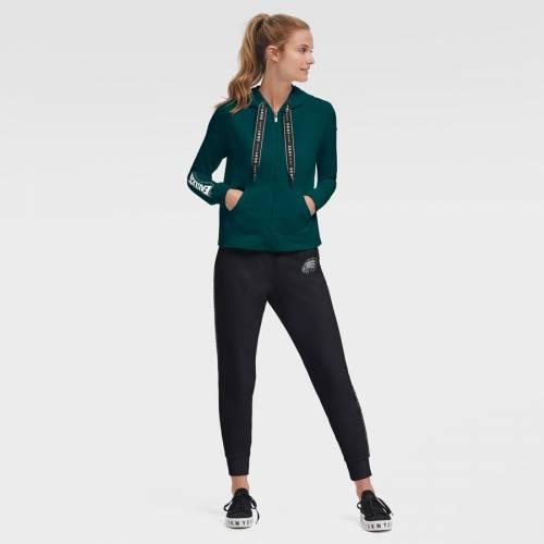 スポーツブランド カジュアル ファッション ジャケット パーカー ベスト ダナキャランニューヨーク スポーツ DKNY AL完売しました。 SPORT フィラデルフィア GREEN グリーン フルジップ WOMEN'S ランキング総合1位 レディース 緑 クロップ FULLジップフーディー フーディー CROP イーグルス