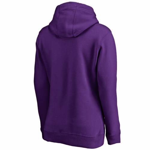 FANATICS BRANDED ジェームズ レディース 紫 パープル WOMEN'S 【 PURPLE FANATICS BRANDED JAMES MADISON DUKES DOUBLE BAR PULLOVER HOODIE 】 レディースファッション トップス パーカー