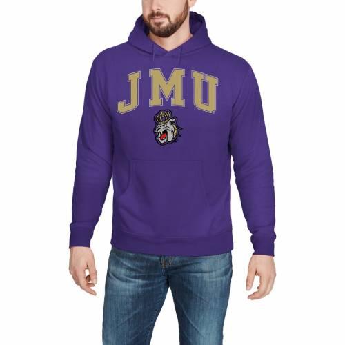 FANATICS BRANDED ジェームズ キャンパス 紫 パープル メンズファッション トップス パーカー メンズ 【 James Madison Dukes Campus Pullover Hoodie - Purple 】 Purple