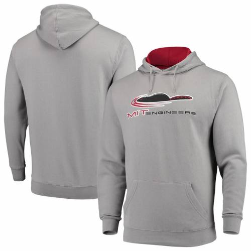 COLOSSEUM ロゴ 灰色 グレー グレイ メンズファッション トップス パーカー メンズ 【 Mit Engineers Wordmark Arch And Logo Pullover Hoodie - Gray 】 Gray