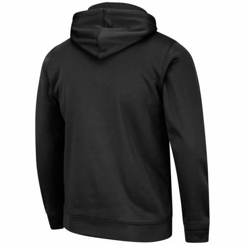 COLOSSEUM 黒 ブラック メンズファッション トップス パーカー メンズ 【 Nebraska Cornhuskers Stencil Stack Pullover Hoodie - Black 】 Black