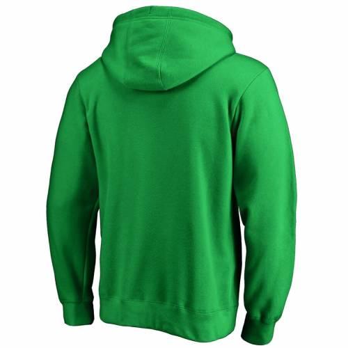 FANATICS BRANDED 白 ホワイト ロゴ 緑 グリーン St. メンズファッション トップス パーカー メンズ 【 Montreal Canadiens St. Patricks Day White Logo Pullover Hoodie - Green 】 Green
