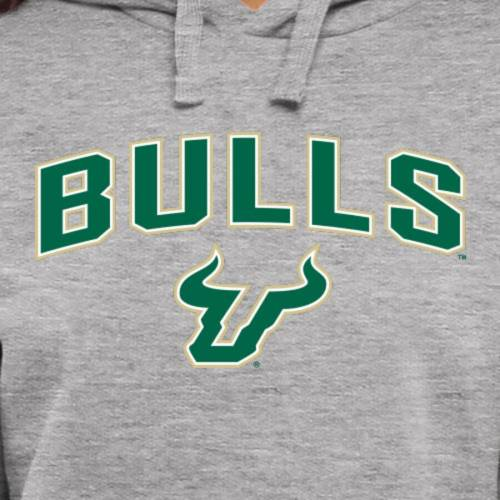 FANATICS BRANDED フロリダ ブルズ レディース メンズファッション トップス パーカー メンズ 【 South Florida Bulls Womens Proud Mascot Pullover Hoodie - Ash - 】 Ash