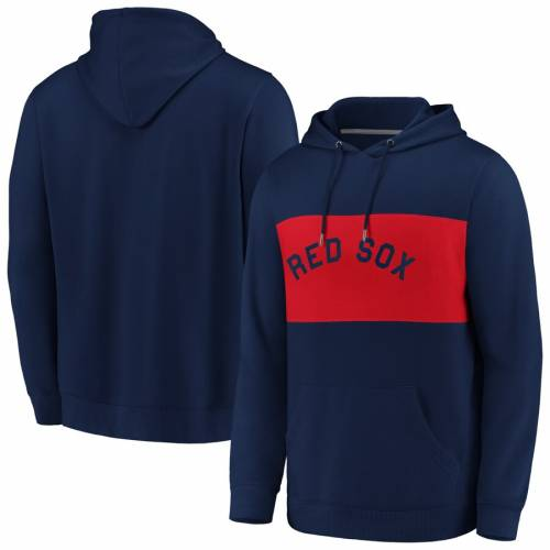 FANATICS BRANDED ボストン 赤 レッド メンズファッション トップス パーカー メンズ 【 Boston Red Sox True Classics Faux Cashmere Pullover Hoodie - Navy/red 】 Navy/red