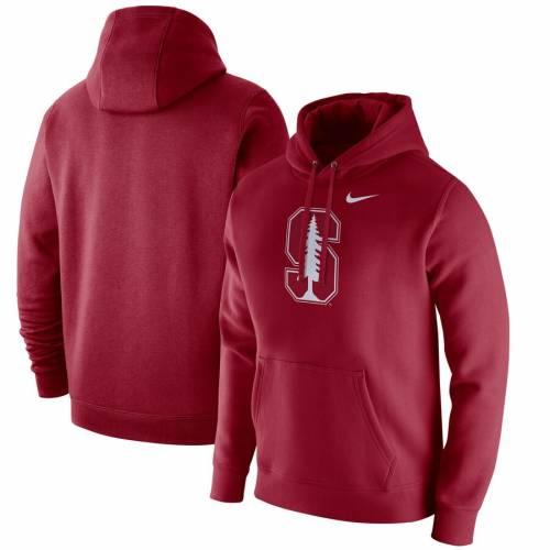ナイキ NIKE スタンフォード 赤 カーディナル ロゴ クラブ フリース メンズファッション トップス パーカー メンズ 【 Stanford Cardinal Logo Club Fleece Pullover Hoodie - Cardinal 】 Cardinal