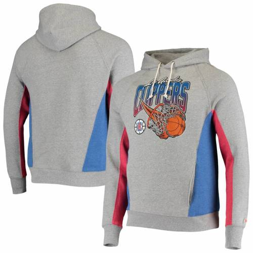 HOMAGE クリッパーズ メンズファッション トップス パーカー メンズ 【 La Clippers On Fire Tri-blend Pullover Hoodie - Gray/royal 】 Gray/royal