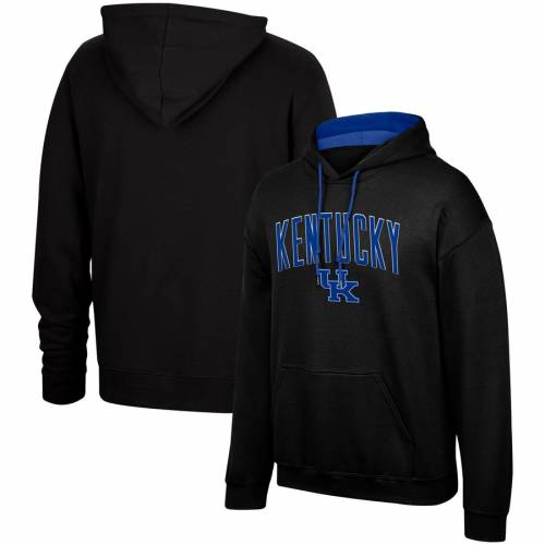 TOP OF THE WORLD ケンタッキー モダン 黒 ブラック メンズファッション トップス パーカー メンズ 【 Kentucky Wildcats Modern Arch Pullover Hoodie - Black 】 Black
