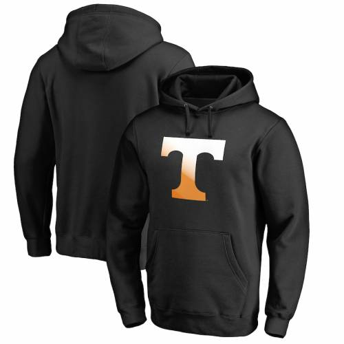 FANATICS BRANDED テネシー ロゴ 黒 ブラック メンズファッション トップス パーカー メンズ 【 Tennessee Volunteers Big And Tall Gradient Logo Pullover Hoodie - Black 】 Black