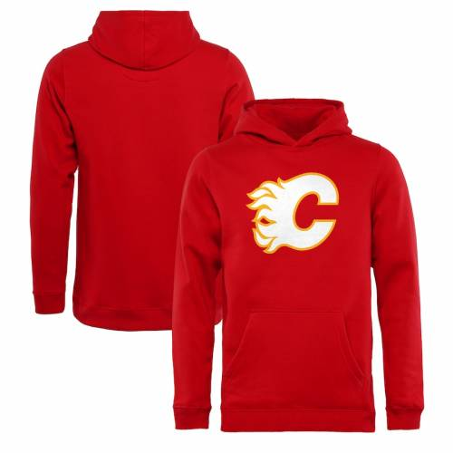 FANATICS BRANDED 子供用 チーム 赤 レッド キッズ ベビー マタニティ トップス ジュニア 【 Calgary Flames Youth Team Alternate Pullover Hoodie - Red 】 Red